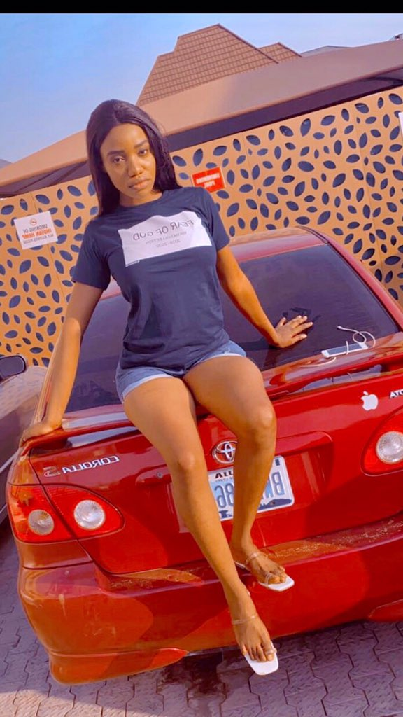 Nigerian Lady Vivian Rora Flaunts Car Don Jazzy Purchased For Her Nigerian Lady, by the name Vivian Rora who is described by many