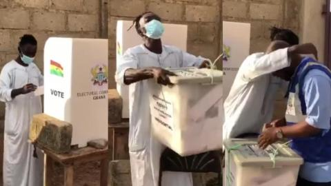 The Moment Lil Win Cracked Ribs At His Polling Station As He Casted His Vote