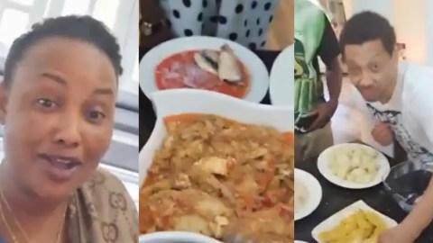 (Video) Nana Ama McBrown Hosts Hollywood Actor Khalil Khain And Serves Him Proper Local Dishes