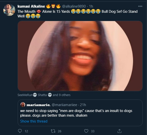 """""""Dogs are even better than men"""" – Lady, Marie 'respectfully' insults men 4"""