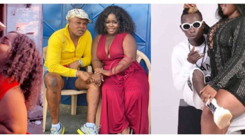 A Few Hours After They Were Spotted Kissing, Bukom Banku Promises To Marry Queen Peezy Despite Having 5 Wives And 14 Children- Video