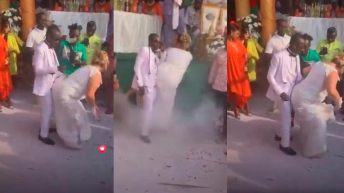 Patapaa and German wife Liha Miller thrill wedding guests with jaw-dropping dancing skills