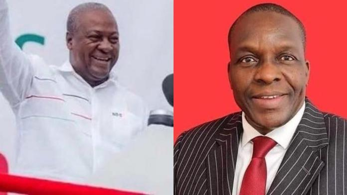 Mahama congratulates Alban Bagbin on his election as Speaker of Parliament