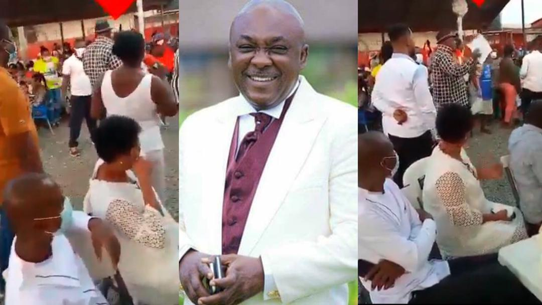 Carlos Ahenkorah celebrates the snatching of ballot papers in parliament with constituents [Video]