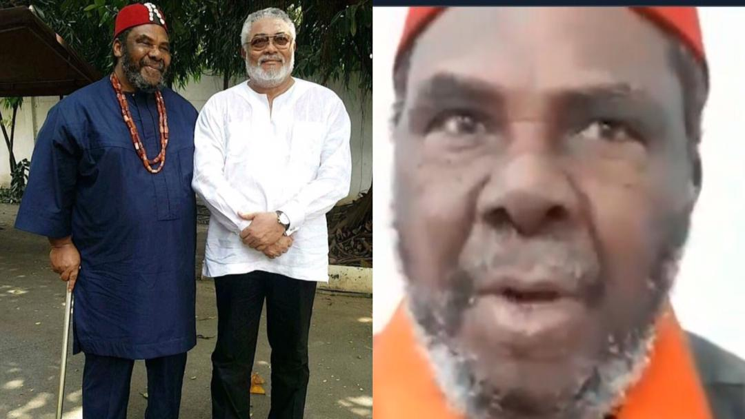 """""""Goodbye Jerry"""" – Nigerian actor, Pete Edochie eulogizes his friend, late former president Rawlings [Video]"""