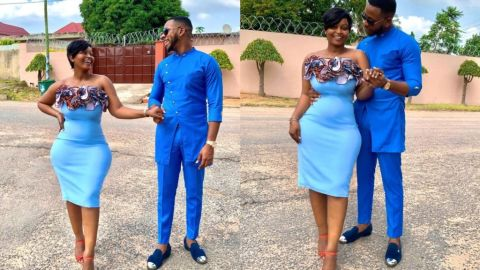 YOLO Star, Aaron Adatsi Flaunts 'Wicked' Curves Of His Baby Mama In New Photos