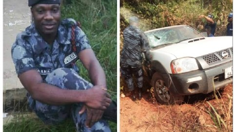 Sad: Policeman Killed In Highway Robbery As Robbers Make Away With ¢500,000-Video