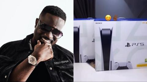 Sarkodie In A Good Mood As He Reacts After Getting The Latest Ps5