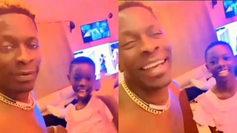 Shatta Wale's Daughter Joins Him At His House As They Spend Quality Time Together (Video)