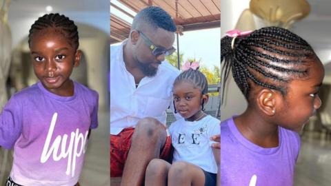 Sarkodie's Daughter Titi Cease Attention With Her New Look