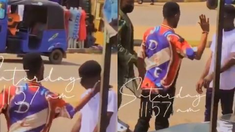 Video: Military Man Allegedly Forces Two Guys Without Nose Mask To Slap Each Other