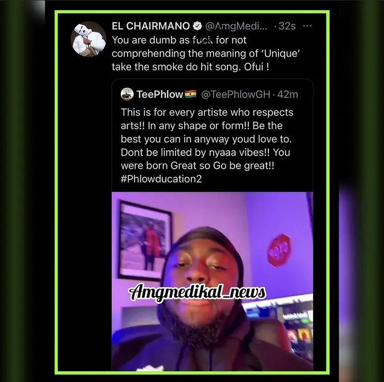 """Ofui"" Medikal Blasts Teephlow For Calling Him Wack Rapper 2"