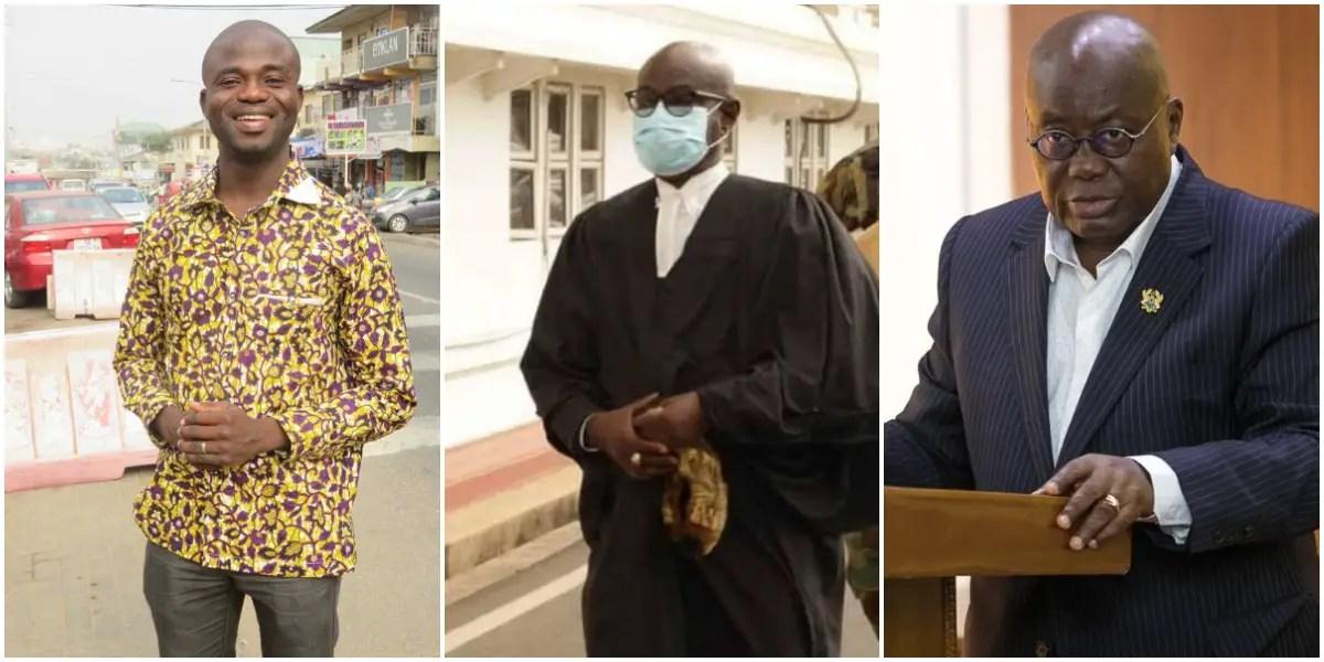 Manasseh Azure and Akufo Addo