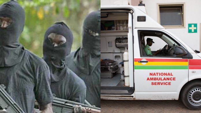 Robbers attack ambulance