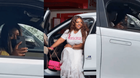 Money Is Talking: Jackie Appiah Spotted Chilling In Her 2020 Range Rover Velar Worth Around Ghc400,000(+Video)
