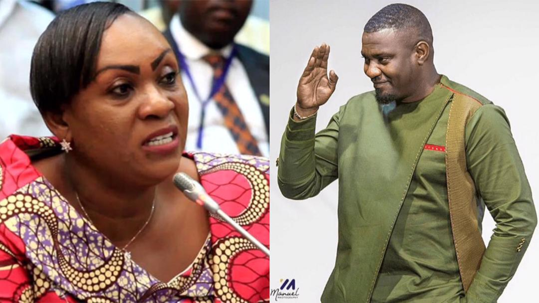 """'Teacher' John Dumelo provides correct answers to the """"Fish Farming"""" question 'student' Hawa Koomson failed to answer during vetting"""