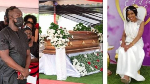 Eddie Nartey Drops Emotional Photo Along With New Message Immediately After Wife's Burial, See Reactions From Colleague Actors