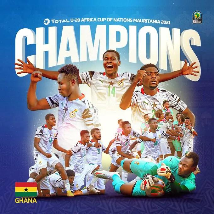 Ghana U20 wins AFCON 2021
