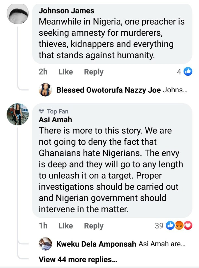 Nigerians React After Court In Ghana Sentenced Two Nigerians To Death By Hanging For Kidnapping And Killing Four Girls 3
