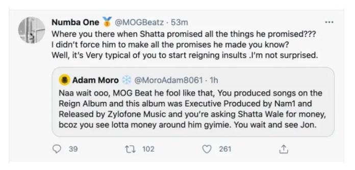 MOG Beatz exposes Shatta Wale