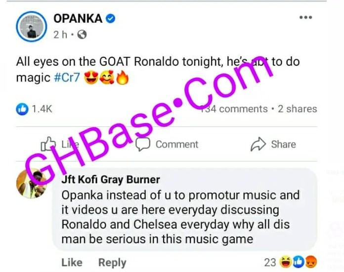 Fan blasts Opanka