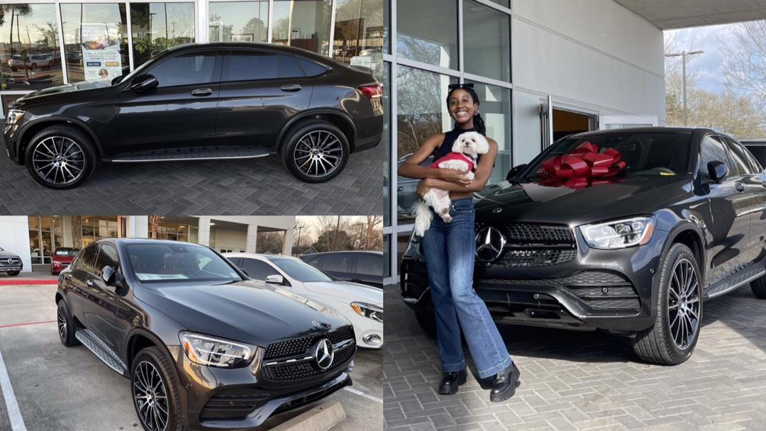 Lady gets Mercedes Benz as gift from parents for getting into medical school