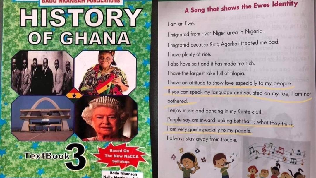 Ghanaians fume over awkward poem written about Ewes in a History textbook