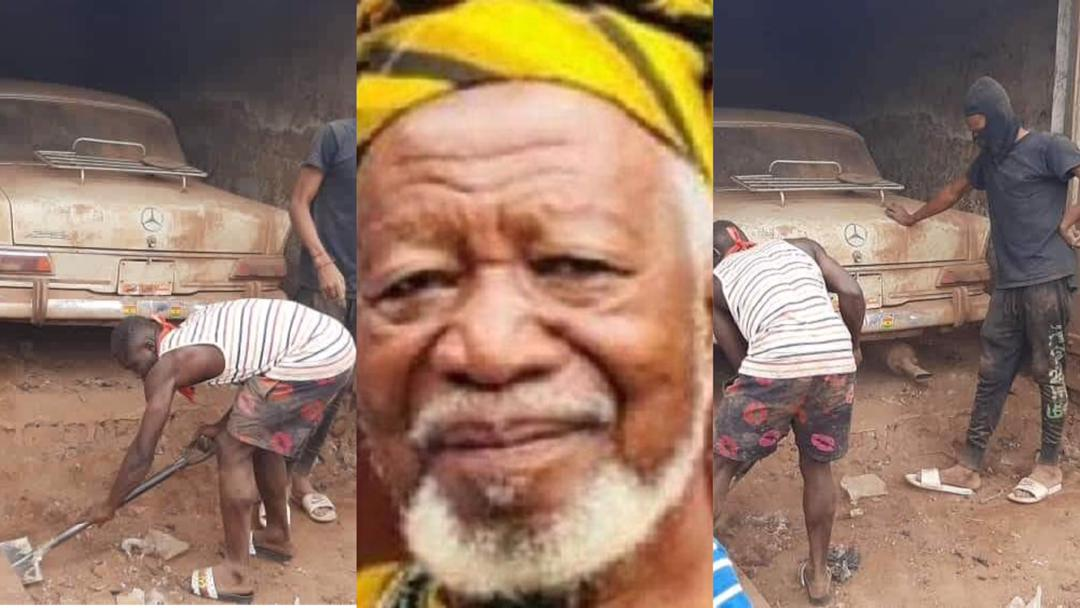 How Ghanaian millionaire hid his Benz in metal garage for 35 years because Rawlings allegedly wanted to seize it [Photos]