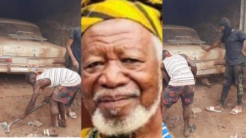 How Ghanaian millionaire hid his Benz car in metal garage for 35 years because Rawlings allegedly wanted to seize it [Photos]