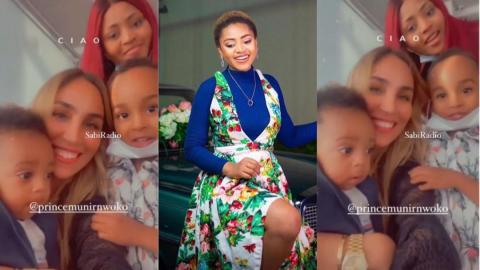 Regina Daniels puts rivalry aside as she hangs out with her co-wife, Laila and children [Video]