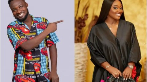 Funny Face Asks Jackie Appiah To Visit Him Alone After He Was Discharged From Accra Psychiatric Hospital