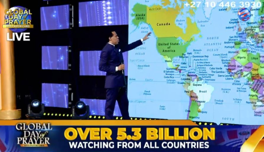 Pastor Chris incurs social media wrath for claiming 5 billion people watched his live stream during service