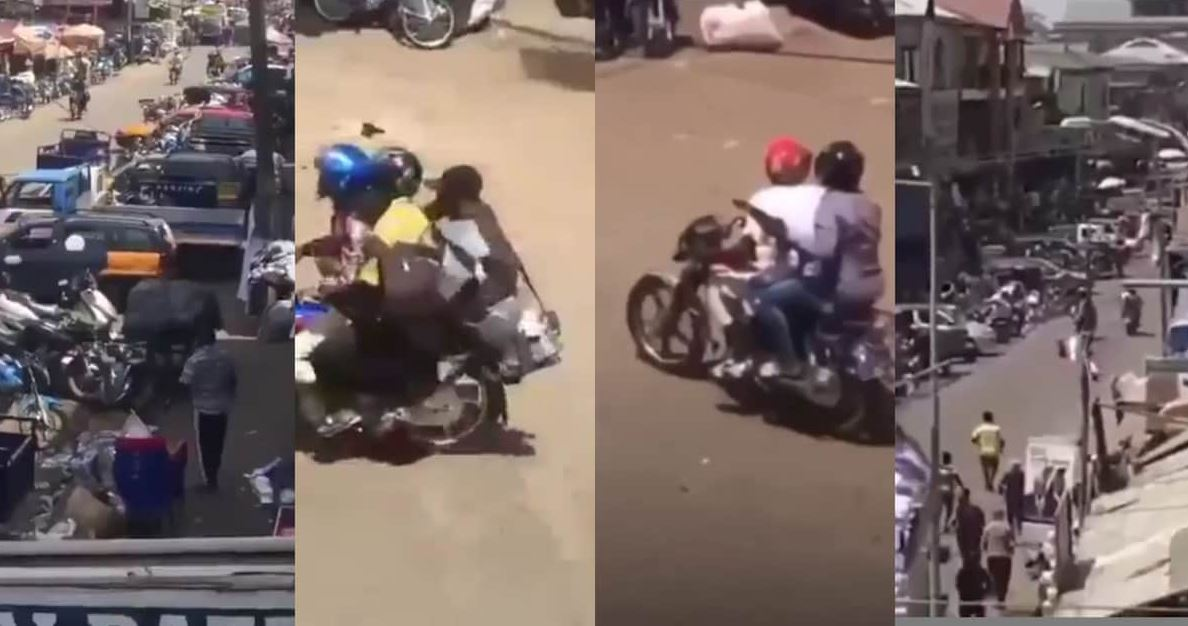 Just In: Daylight robbery at Kasoa as armed robbers shoot man returning from the bank (Video)
