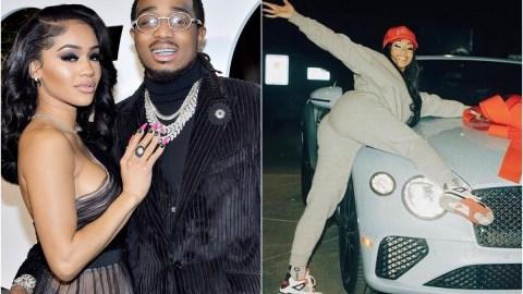 American Rapper, Quavo Allegedly Takes Back The 2021 Bentley Convertible He Gifted Saweetie For Christmas After She Broke Up With Him