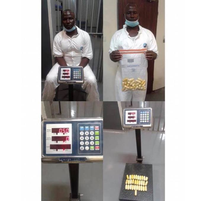 47-year old man forced to poop 97 wraps of cocaine at Lagos Airport 2