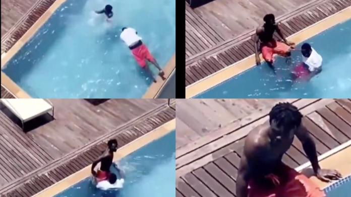 Moment Jay Bahd of Asaaka Boys fame almost drowned while swimming in his pool [Video]