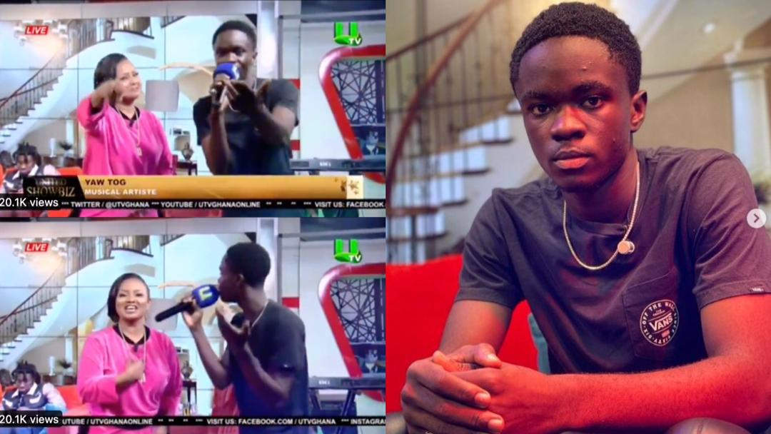 """""""He needs to focus on school because he's not good enough"""" – Fans' reaction after Yaw Tog's freestyle on UTV """"went wrong"""" [Video]"""