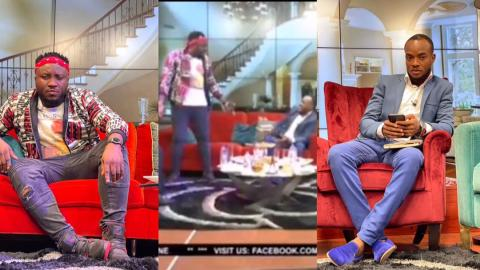 "Moment DKB clashed with Halifax Ansah Addo on UTV for describing him as ""big head, small sense"" [Video]"
