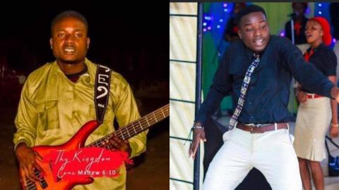 Sad moment when young guitarist slumps and dies while dancing and performing in church