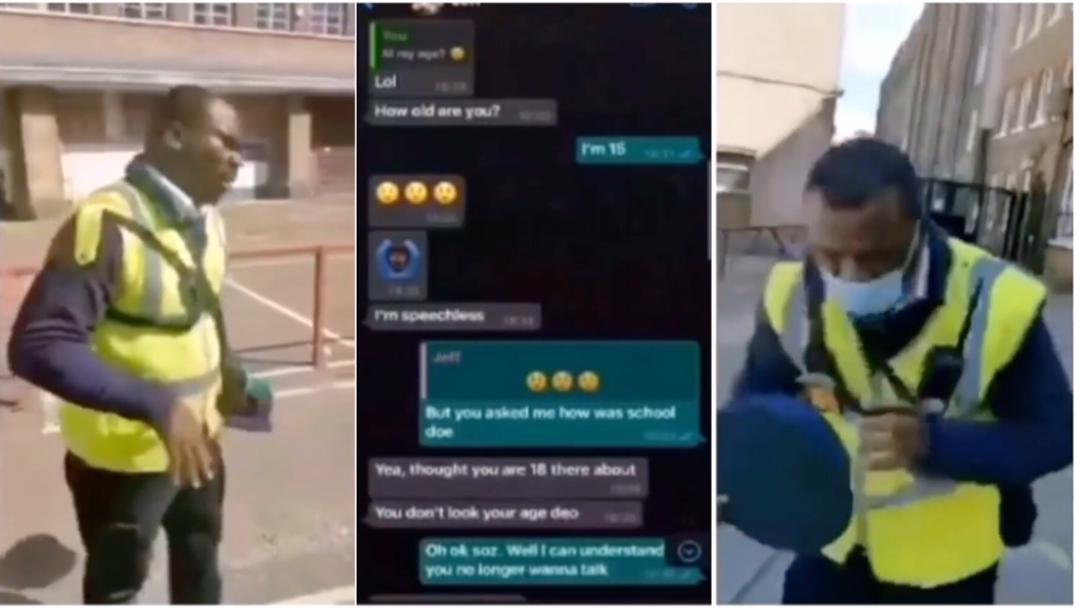 London: Nigerian man in tears after he was caught by father of 15-year-old girl he has been chatting & scheduled to meet her at a secluded place