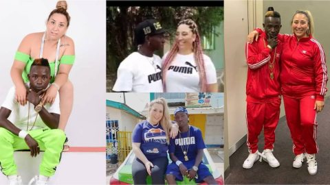 Patapaa and obroni wife, Liha Miller allegedly expecting their first child (Video)