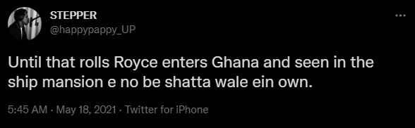 Shatta Wale busted for allegedly borrowing the Rolls Royce he flaunted on social media from his rich friend in the US (+Video)