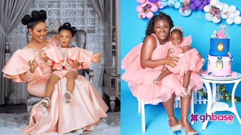 Tracey Boakye busted for copying Nana Ama Mcbrown and Baby Maxin's dressing and photoshoot style