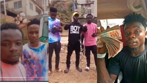 """""""We ain't criminals or armed robbers"""" – Guys in viral video brandishing guns clear air & rain curses on bloggers [Video]"""