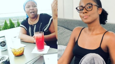 MzVee's Mom Hits Her Mini Studio To Drop Heavy Bars But Hilariously Got Sacked After The Verse Came Out As Hymn [Video]