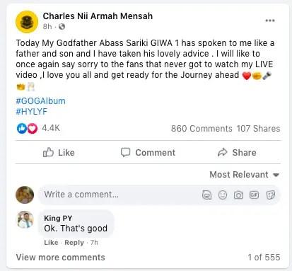 Shatta Wale finally apologizes