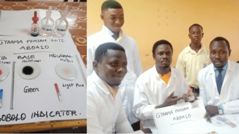 Future Scientists: Gyaama Pensan SHTS exhibits 'Sobolo' as acid-base indictor (+Photos