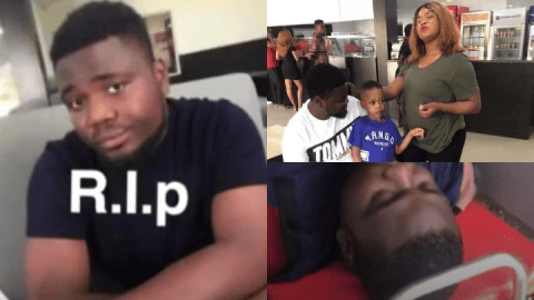 Nigerian man living abroad slumps and dies after DNA proved he's not the biological father of his son (Watch)