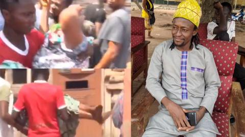 Sad moment late Ibrahim Kaaka's mother collapsed when Interior Minister Ambrose Dery visited family at Ejura [Video]