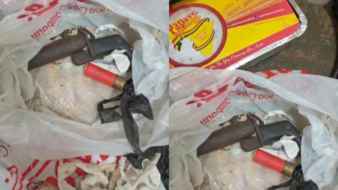 Police intercepts weapon concealed in food for inmate; suspect on the run